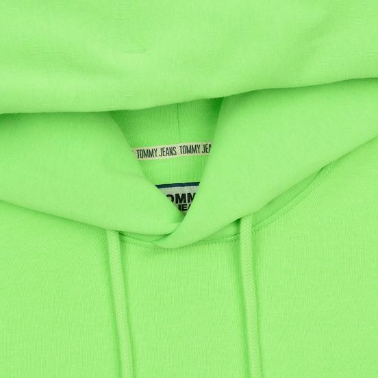 Мужская толстовка Tommy Jeans Neon Small Logo Hoodie Green Gecko