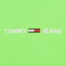 Мужская толстовка Tommy Jeans Neon Small Logo Hoodie Green Gecko фото- 2