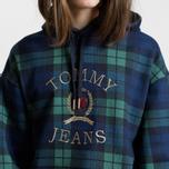 Мужская толстовка Tommy Jeans Crest Plaid Hoodie Check Dark Sapphire/Multi фото- 3