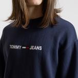 Мужская толстовка Tommy Jeans Small Logo Crew Black Iris фото- 2