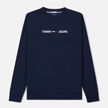 Мужская толстовка Tommy Jeans Small Logo Crew Black Iris