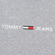 Мужская толстовка Tommy Jeans Straight Small Logo Hoodie Slim Fit Light Grey Heather фото- 2