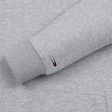 Мужская толстовка Tommy Jeans Straight Small Logo Hoodie Slim Fit Light Grey Heather фото- 3