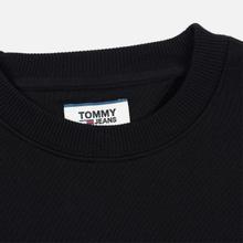 Мужская толстовка Tommy Jeans Tommy Badge Crew Black фото- 1