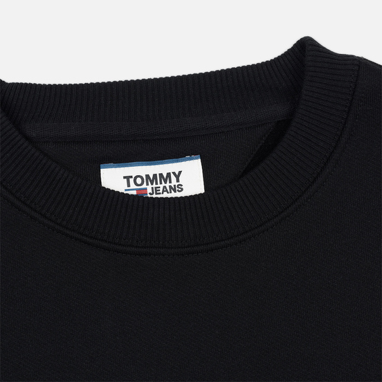 Мужская толстовка Tommy Jeans Tommy Badge Crew Black