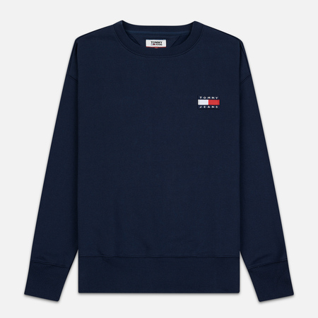 Мужская толстовка Tommy Jeans Tommy Badge Crew Black Iris