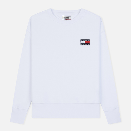 Мужская толстовка Tommy Jeans Tommy Badge Crew Classic White
