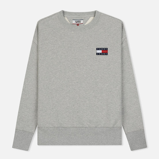 Мужская толстовка Tommy Jeans Tommy Badge Crew Light Grey Heather