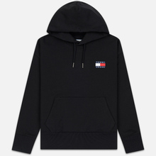 Мужская толстовка Tommy Jeans Tommy Badge Hoodie Black фото- 0