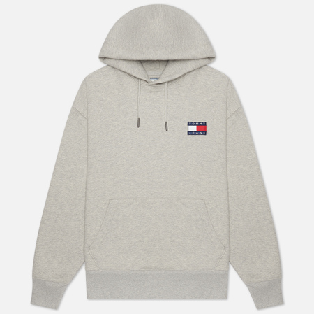Мужская толстовка Tommy Jeans Tommy Badge Hoodie Light Grey Heather