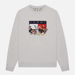 Мужская толстовка Tommy Jeans x Looney Tunes Crew Neck Pale Grey Heather
