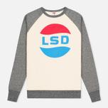 Мужская толстовка TSPTR LSD Print Raglan Crew Grey Marl/White фото- 0