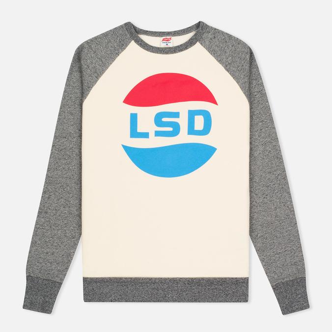 Мужская толстовка TSPTR LSD Print Raglan Crew Grey Marl/White
