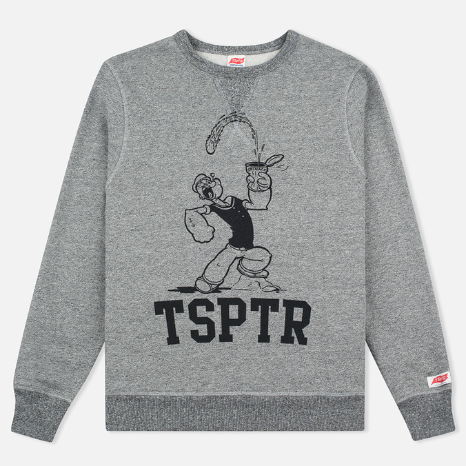 Мужская толстовка TSPTR Popeye Spinach Grey Marl