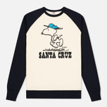 Мужская толстовка TSPTR Snoopy Santa Cruz Raglan Crew Navy/White фото- 0
