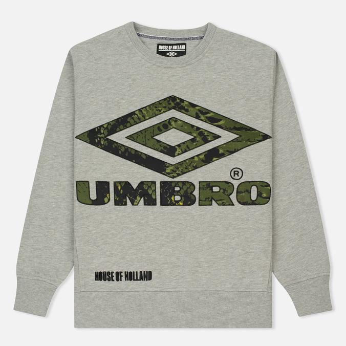 Мужская толстовка Umbro x House Of Holland Snake Applique Grey Marl