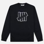 Мужская толстовка Undefeated 5 Strike Applique Crew Black фото- 0
