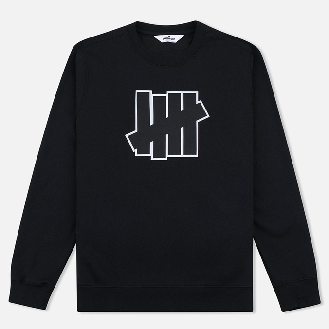 Мужская толстовка Undefeated 5 Strike Applique Crew Black