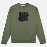 Мужская толстовка Undefeated 5 Strike Applique Crew Olive фото- 0