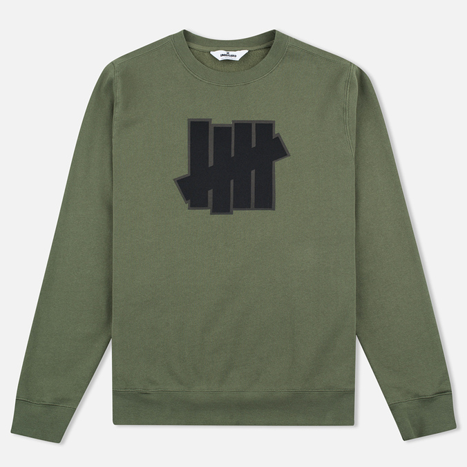 Мужская толстовка Undefeated 5 Strike Applique Crew Olive