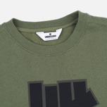 Мужская толстовка Undefeated 5 Strike Applique Crew Olive фото- 1