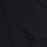Undefeated 5 Strike Applique Zip Men`s Hoody Black photo- 4