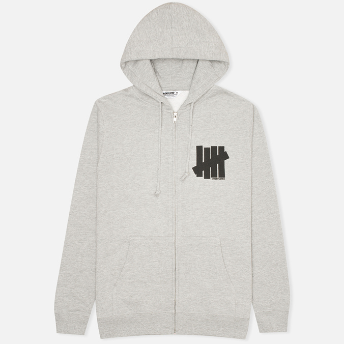 Мужская толстовка Undefeated 5 Strike Zip Grey Heather