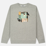 Мужская толстовка Undefeated Patchwork Strike Crew Grey Heather фото- 0