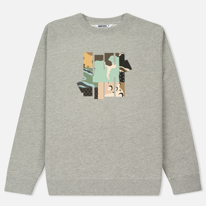 Мужская толстовка Undefeated Patchwork Strike Crew Grey Heather