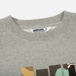 Мужская толстовка Undefeated Patchwork Strike Crew Grey Heather фото- 1