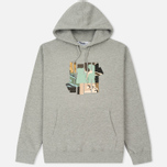 Мужская толстовка Undefeated Patchwork Strike Hoodie Grey Heather фото- 0