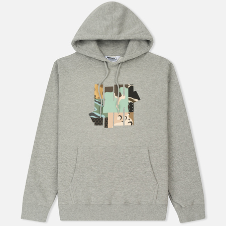 Мужская толстовка Undefeated Patchwork Strike Hoodie Grey Heather