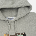 Мужская толстовка Undefeated Patchwork Strike Hoodie Grey Heather фото- 1