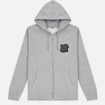 Мужская толстовка Undefeated Shadowed Strike Full Zip Hoodie Grey Heather фото- 0