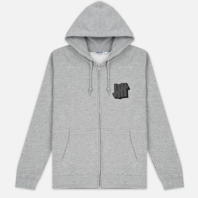 Мужская толстовка Undefeated Shadowed Strike Full Zip Hoodie Grey Heather