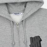 Мужская толстовка Undefeated Shadowed Strike Full Zip Hoodie Grey Heather фото- 1