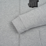 Мужская толстовка Undefeated Shadowed Strike Full Zip Hoodie Grey Heather фото- 3