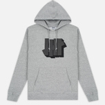 Мужская толстовка Undefeated Shadowed Strike Hoodie Grey Heather фото- 0