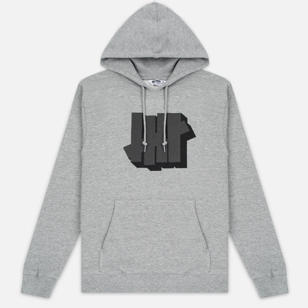 Мужская толстовка Undefeated Shadowed Strike Hoodie Grey Heather