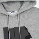Мужская толстовка Undefeated Shadowed Strike Hoodie Grey Heather фото- 1
