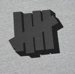 Мужская толстовка Undefeated Shadowed Strike Hoodie Grey Heather фото- 2