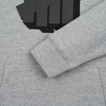 Мужская толстовка Undefeated Shadowed Strike Hoodie Grey Heather фото- 3