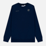 Мужская толстовка Undefeated Tech Fleece LS Crewneck Navy фото- 0