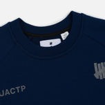 Мужская толстовка Undefeated Tech Fleece LS Crewneck Navy фото- 1