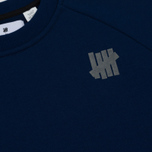 Мужская толстовка Undefeated Tech Fleece LS Crewneck Navy фото- 2