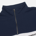 Undefeated Wag Half Zip Men's Sweatshirt Navy photo- 2