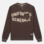 Мужская толстовка Uniformes Generale Belushi Crew Sweat Brown Melange фото- 0