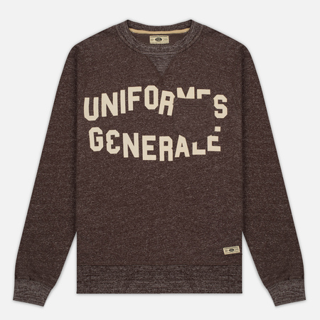 Uniformes Generale Belushi Crew Sweat Men's Sweatshirt Brown Melange