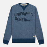 Uniformes Generale Belushi Crew Sweat Men's Sweatshirt Indigo photo- 0