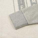 Мужская толстовка Uniformes Generale Perspective Letterman Contrast Crew Grey Melange фото- 3